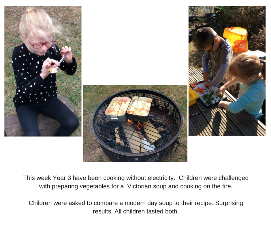 Year 5 with the Outdoor Learning team have been looking at Liquid, solid and gas.They were give two challenges to heat water and butter and then record their findings.Excellent investigation skills_1